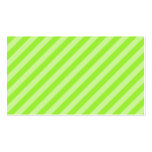 Stripe Pattern in Green. Business Card Template