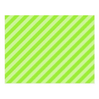 Stripe Pattern in Green. Postcard
