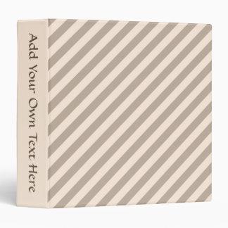Stripe Pattern in Neutral Colors . Binder