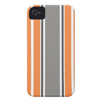 Stripe Pattern - Orang and Grey iPhone 4 4S Case iPhone 4 Case-Mate Case