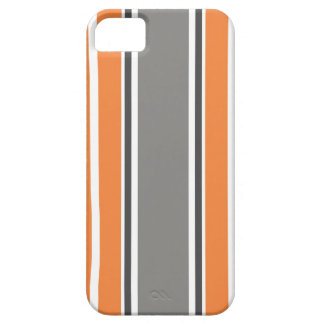 Stripe Pattern - Orang and Grey iPhone 5 Case iPhone 5 Covers