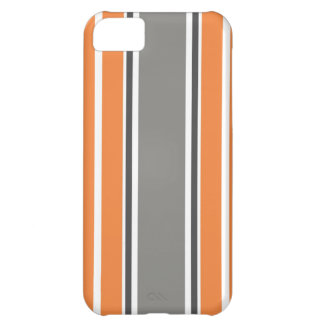 Stripe Pattern - Orang and Grey iPhone 5 Case iPhone 5C Case