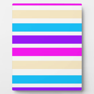 Stripe Pattern Photo Plaque