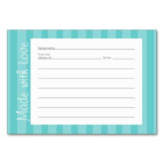 Stripe Pattern Recipe Cards