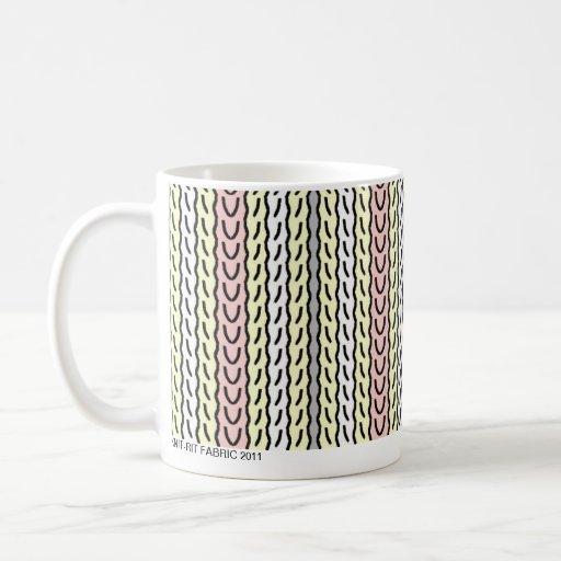 Stripe - pink cream - mug