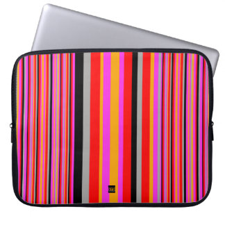 Stripe Pink Lines 15 Inch Laptop Sleeve