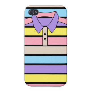Stripe Polo Shirt iPhone 4 Glossy Finish Case iPhone 4 Cover