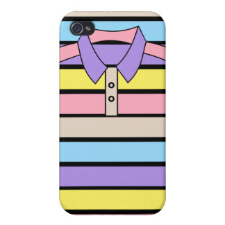 Stripe Polo Shirt iPhone 4 Matte Finish Case iPhone 4 Cover