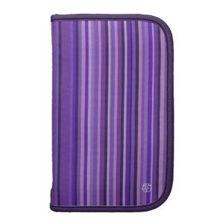 Stripe Purple Moblie Zip Folio Planners