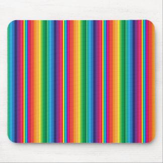 Stripe rainbow mouse pad