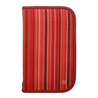 Stripe Red Moblie Zip Folio Folio Planners