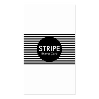 stripe stamp card Double-Sided standard business cards (Pack of 100)