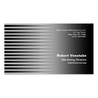 Stripe Steel Business Card