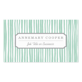 Stripe the Line Business Card