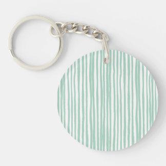 Stripe the Line Keychain