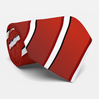 Stripe tie red and White