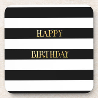 Stripe Wrapping Paper Coaster