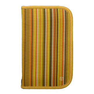 Stripe Yellow Moblie Zip Folio Planners