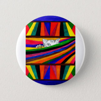 Striped Abstraction Design2 Pinback Button