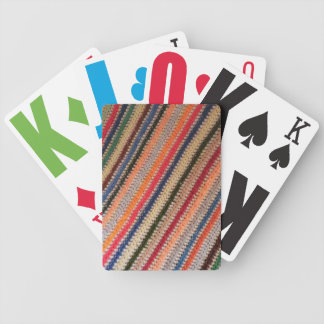 Striped Afghan Playing Cards