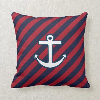 Striped  Anchor  Pillow