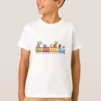 Striped Animals on a Toy Train T-Shirt