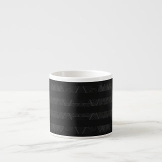 Striped Argyle Embellished Grey Espresso Cup