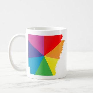 striped arkansas. angled. coffee mug