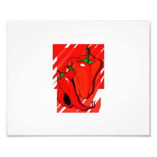 Striped background 3 peppers red.png photo print