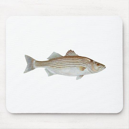 Striped Bass Art Mouse Pad