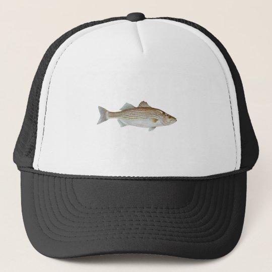 Striped Bass Art Trucker Hat