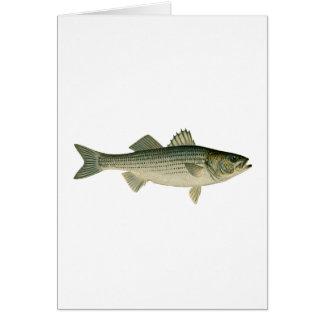 Striped Bass Logo Greeting Card