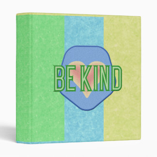 """Striped Be Kind 1"""" Binder"""