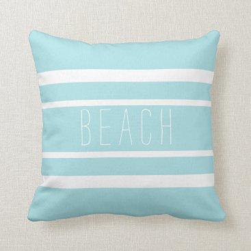 Beach Themed Striped Beach Throw Pillow