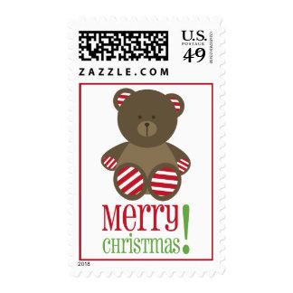Striped Bear Christmas Postage