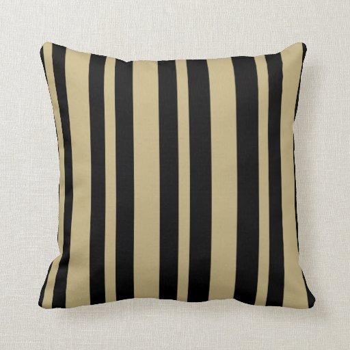 Black And Beige Throw Pillows : Striped: Beige & Black throw pillow Zazzle