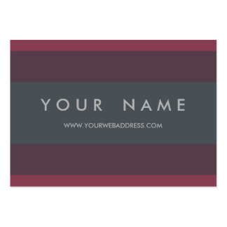 Striped Berry & Petrol Custom Chubby Large Business Card