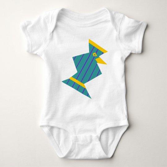 Striped Bird Baby Bodysuit