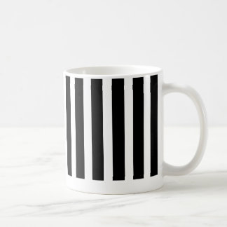 striped  black and white mug