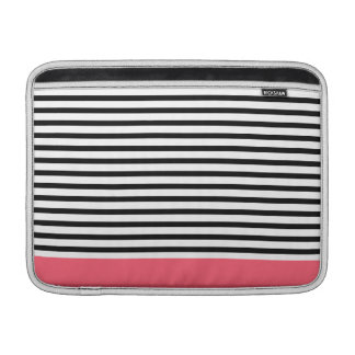 Striped Black & Pink Sleeve For MacBook Air