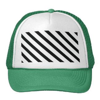Striped (Black & White   Diagonal) Any Size Custom Trucker Hat