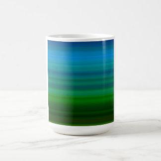 Striped Blend in blue and green Coffee Mug