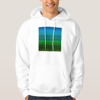 Striped Blend in blue and green Hoodie