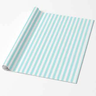 Striped blue and white Paper Gift Wrapping Paper