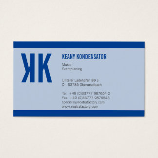 Striped blue business card