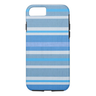 Striped Blue cotton Fabric Pattern iPhone 7 Case