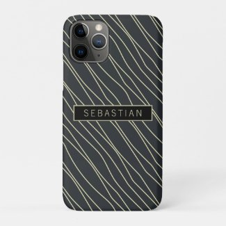 Striped Blue Pattern Personalized Case-Mate iPhone Case