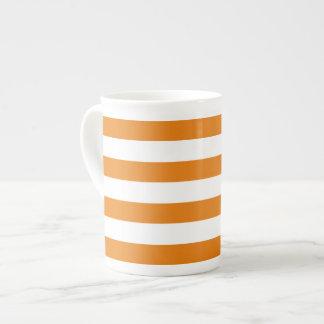 Striped bone china mug