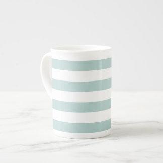 Striped bone china mug tea cup