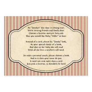 Striped Book Insert Large Business Cards (Pack Of 100)